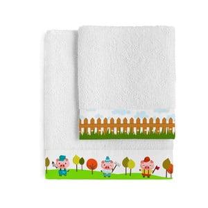 Komplet 2 ręczników Little Pigs, 50x100 cm i 70x140 cm