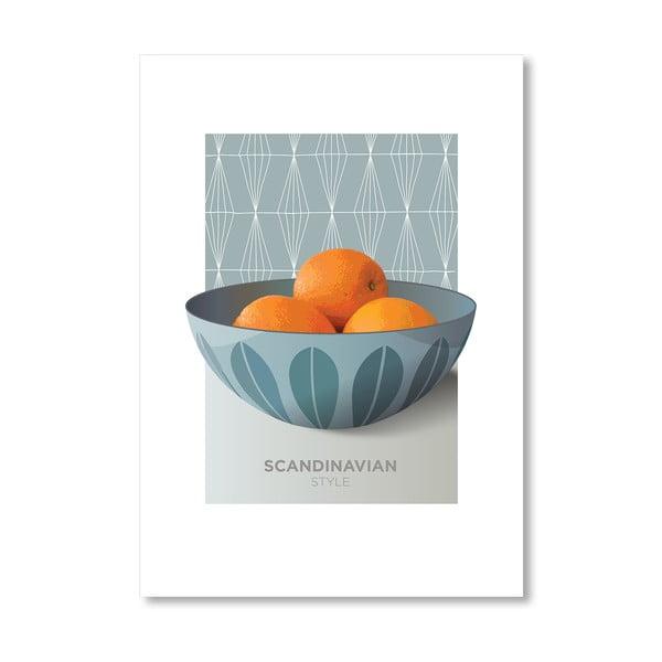 """Plakat autorski """"Cathrineholm oranges"""""""