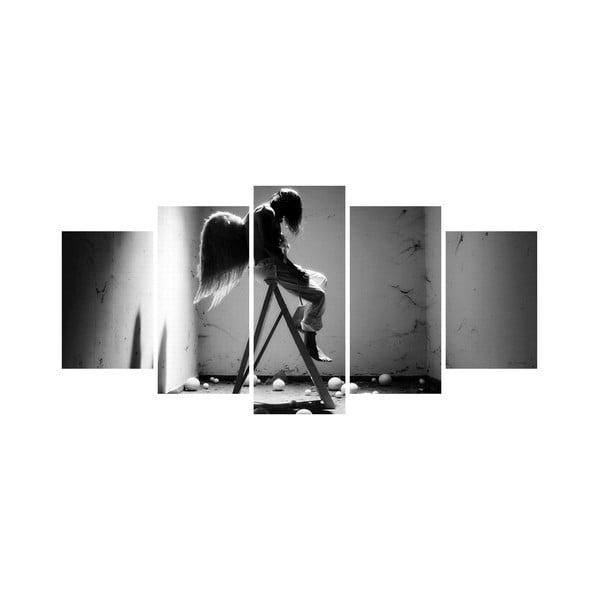 Wieloczęściowy obraz Black&White no. 44, 100x50 cm