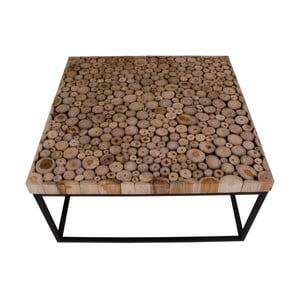Czarny stolik z drewna tekowego House Nordic Knoxville