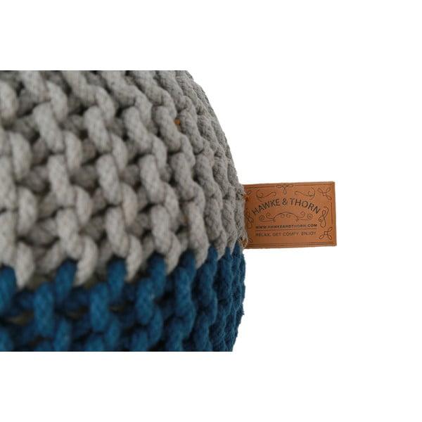Szaro-niebieski puf Hawke&Thorn Parker