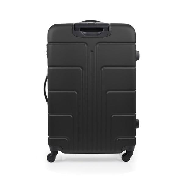 Zestaw 3 czarnych walizek na kółkach Blue Star Ottawa