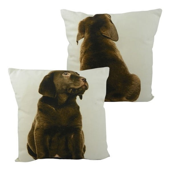 Poduszka Double Labrador Brown 33x33 cm