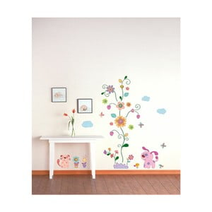 Naklejka Ambiance Colorful animals and tree, 100x25 cm