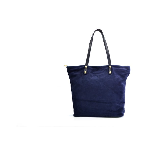 Skórzana torebka Sharon, niebieska