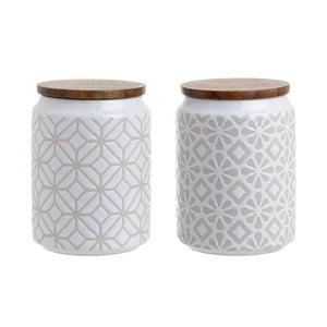 Zestaw 2   porcelanowych pojemników InArt Rust