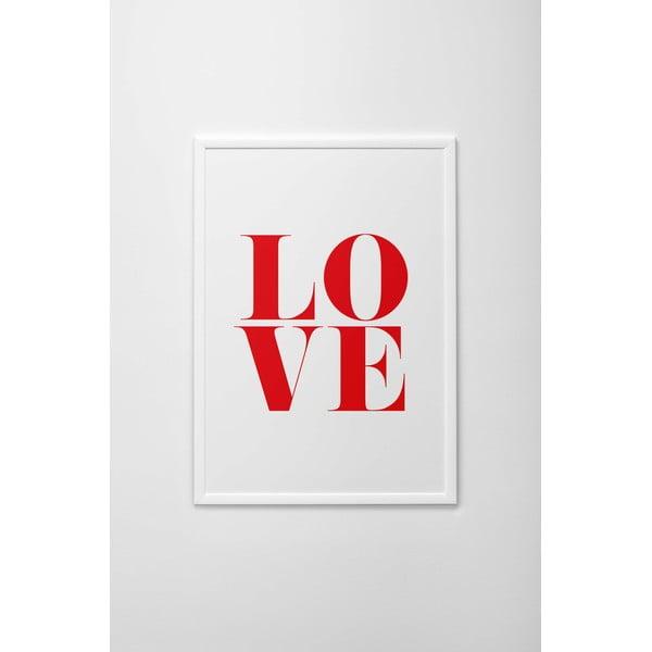 Plakat autorski Red Love, A3