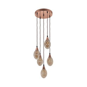 Lampa wisząca z 5 kryształowymi kloszami Santiago Pons Valerio