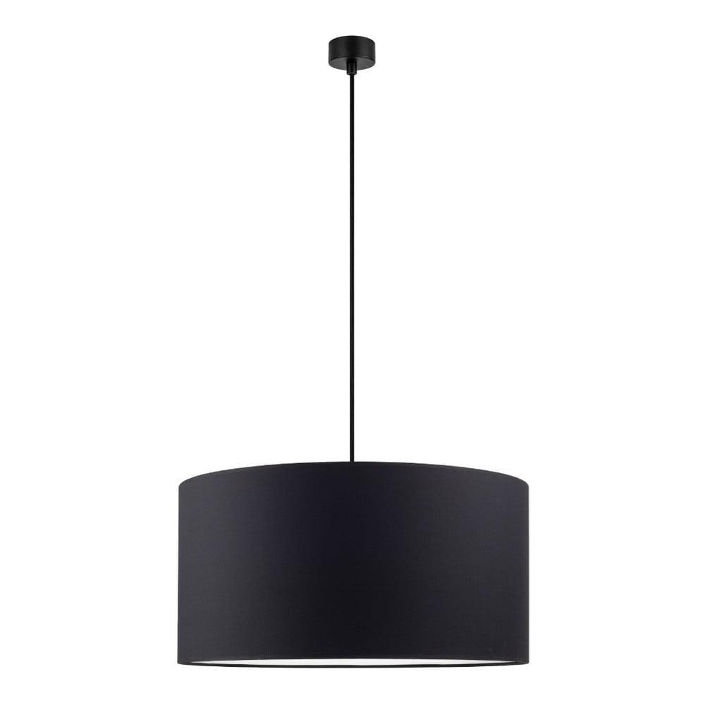 Czarna lampa wisząca Sotto Luce Mika, ∅50cm