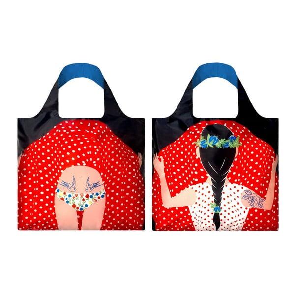 Składana torba na zakupy Flashing Girl by Cristina Caramida