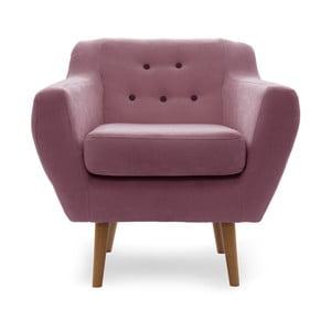 Różowy fotel Vivonita Kelly