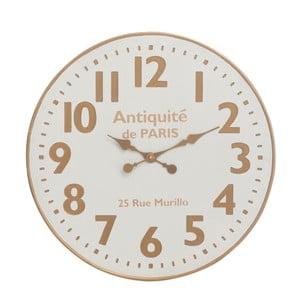 Zegar ścienny J-Line, biało-beżowy