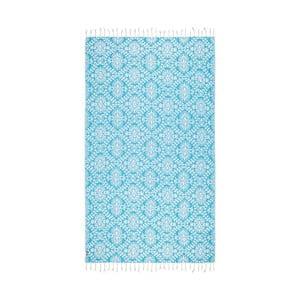 Turkusowy ręcznik hammam Kate Louise Bianca, 165x100cm
