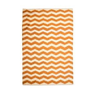 Bawełniany dywan Chevron Ivory/Orange, 120x180 cm