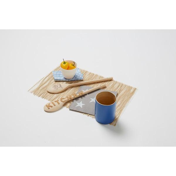 Bambusowy pojemnik na przybory kuchenne Compactor Bamboo Blue, 10 cm
