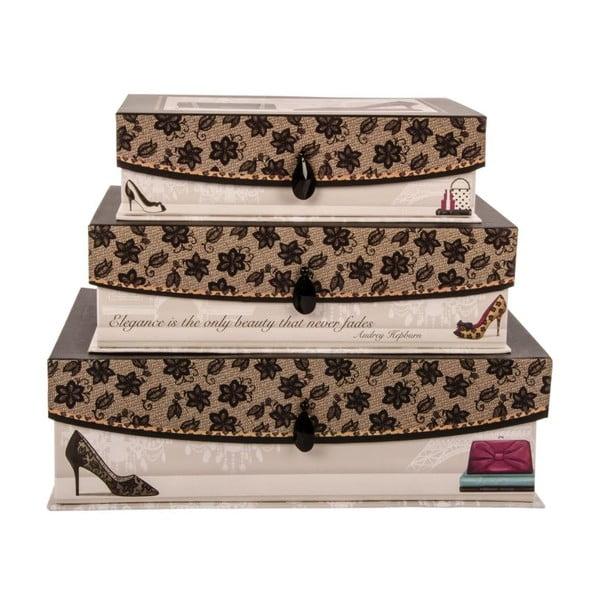 Zestaw 3 pudełek Audrey
