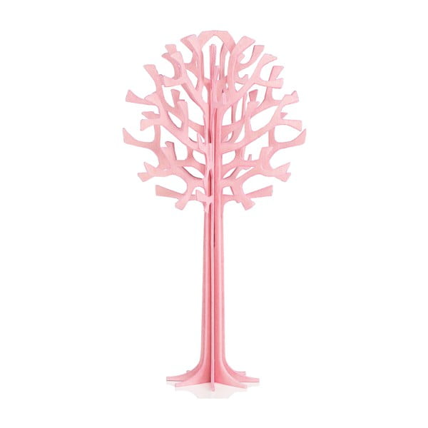Składana pocztówka Lovi Tree Light Pink, 13.5 cm