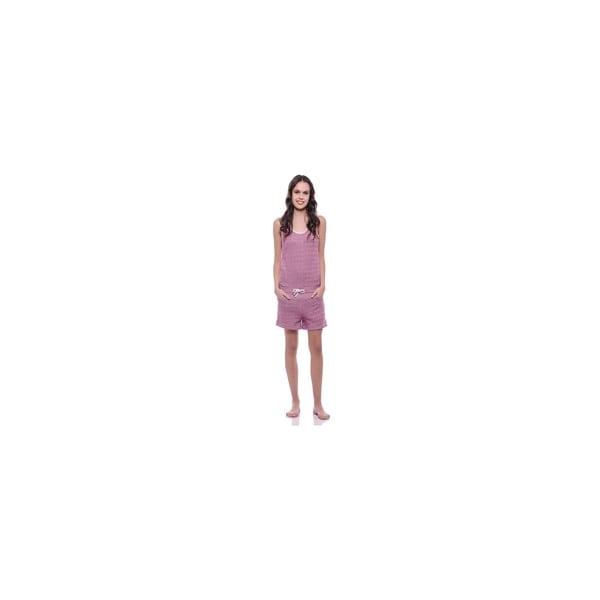 Krótki kombinezon bez rękawów Summer Pink, M