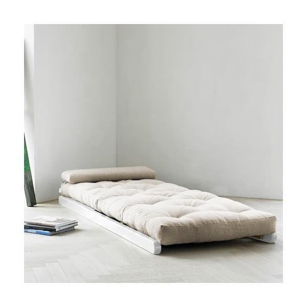 Szezlong Karup Figo White/Natural, 70 cm