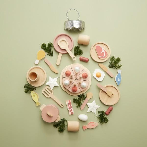 Zestaw drewnianych garnków do zabawy Flexa Toys Pot & Pan