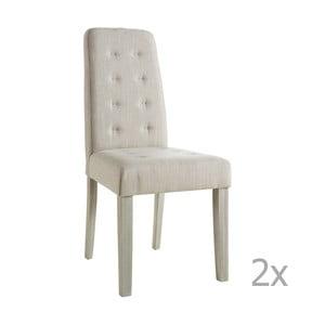 Zestaw 2 beżowych krzeseł 13Casa Chic