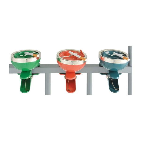Zestaw 3 popielniczek na balustradę Esschert Design Happy