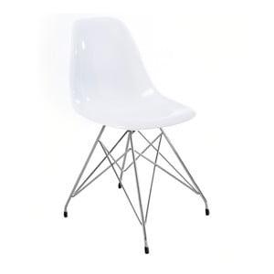 Białe krzesło Canett Crystal