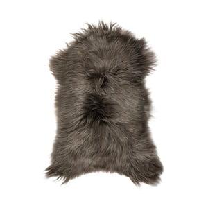 Szaro-brązowa skóra owcza z długim włosiem, 100x60 cm