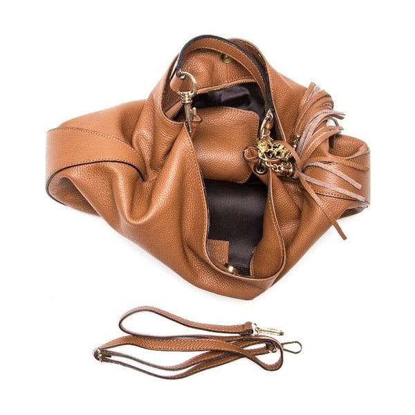 Skórzana torebka Isabella Rhea 1118 Cognac