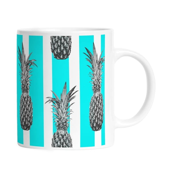 Kubek ceramiczny Pineapples in Stripes, 330 ml