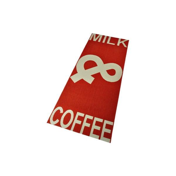Dywan kuchenny Milk&Coffee 80x200 cm, czerwony