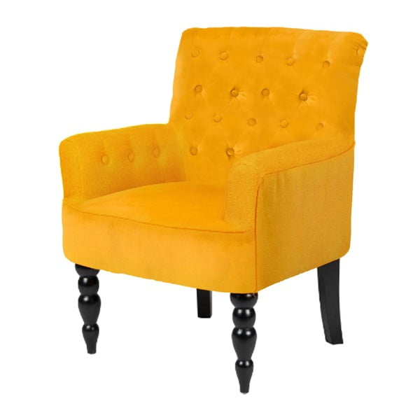 Pomarańczowy fotel Støraa Amanda