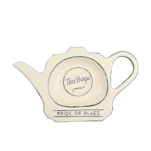 Kremowy talerzyk porcelanowy na torebki herbaty T&G Woodware Pride of Place