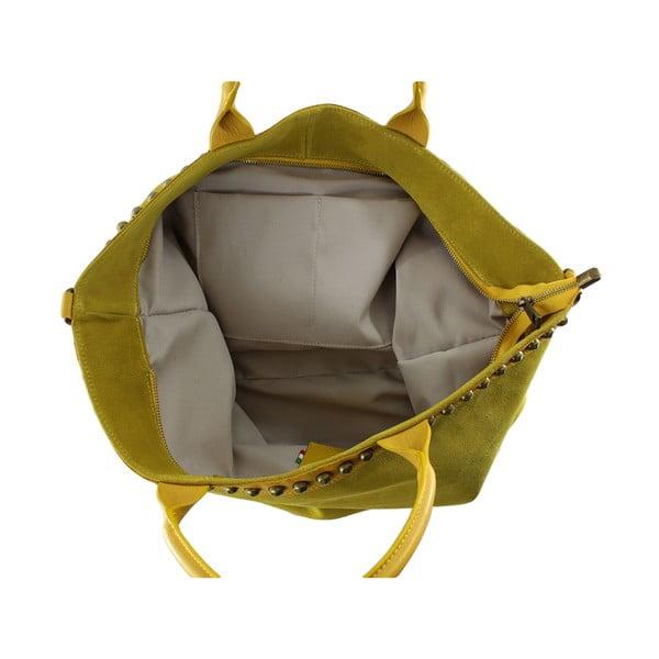 Skórzana torebka Skull, żółta