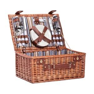 Kosz piknikowy (zestaw na 4 osoby) Stripes