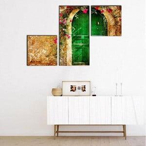 Trzyczęściowy obraz Asymetric Doorm, 60x90 cm