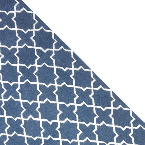 Dywan wełniany Geometry Grey Blue & White, 160x230 cm