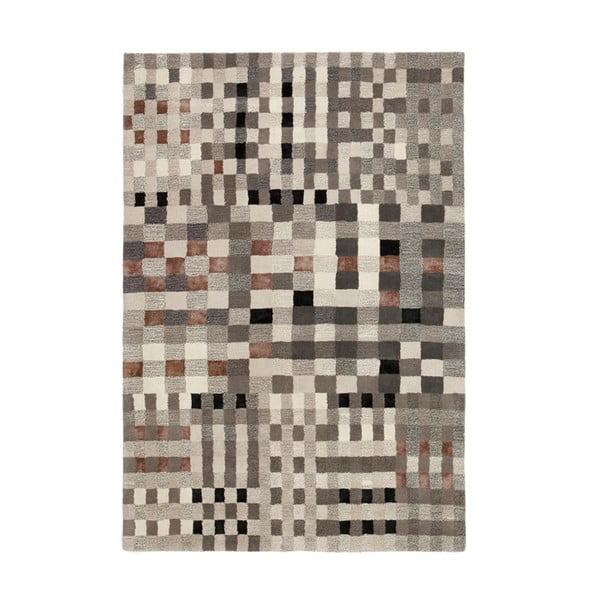 Wełniany dywan Jason Grey, 170x240 cm