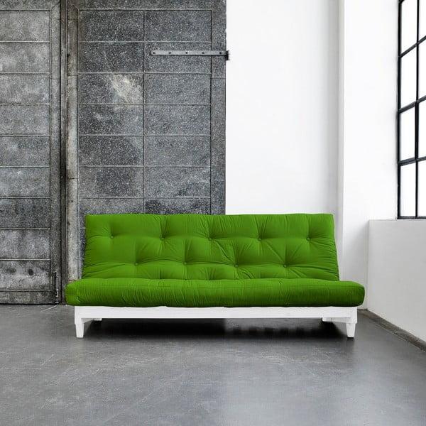 Sofa rozkładana Karup Fresh White/Lime