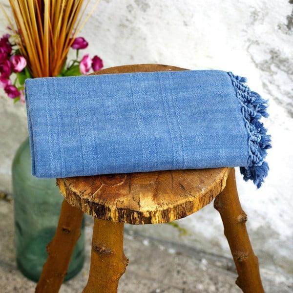 Ręcznik hamam Peshtemal Blue, 80x160 cm