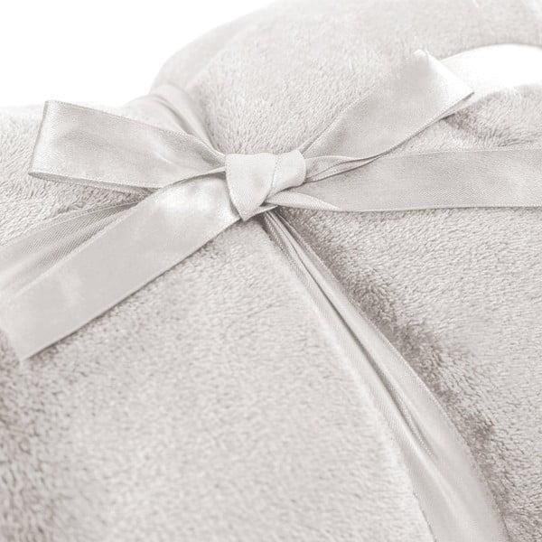 Kremowy koc z mikrowłókna DecoKing Mic, 200x220 cm