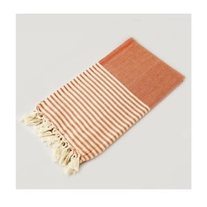 Ręcznik hammam Marine Style Orange, 100x180 cm