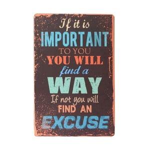 Tablica Excuse, 20x30 cm