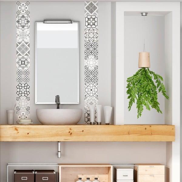 Zestaw 30 samoprzylepnych naklejek Ambiance Cement Tiles Shade of Gray Bari, 10x10 cm