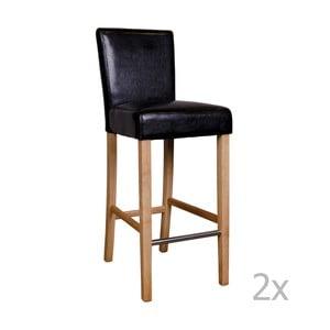 Zestaw 2 czarnych krzeseł barowych House Nordic Boden