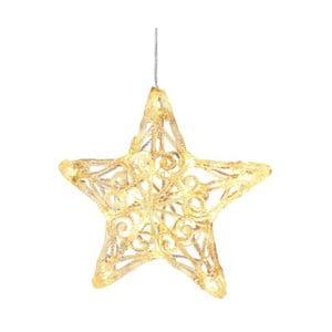 Świecąca gwiazda wisząca Best Season Crystal Snowflake, 25 cm