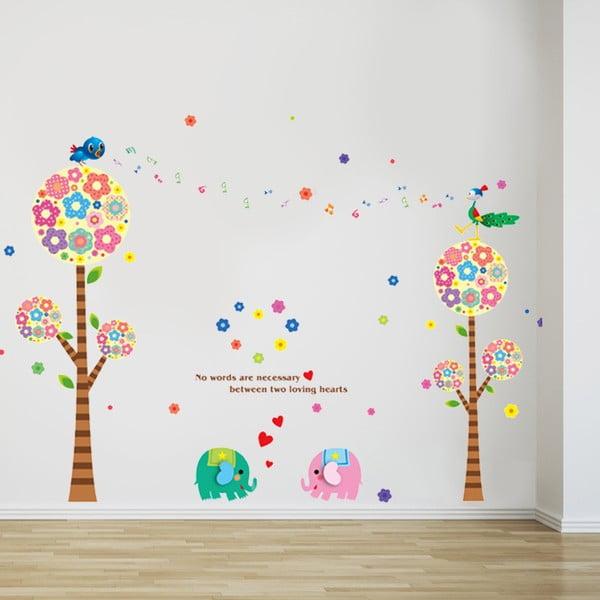 Naklejka ścienna Elephant Love, 60x90 cm