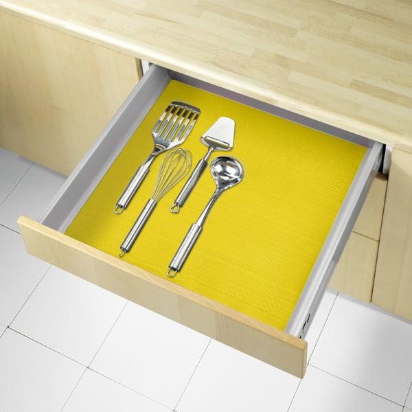 Żółta podkładka antypoślizgowa do szuflady Wenko Anti Slip, 150x50cm
