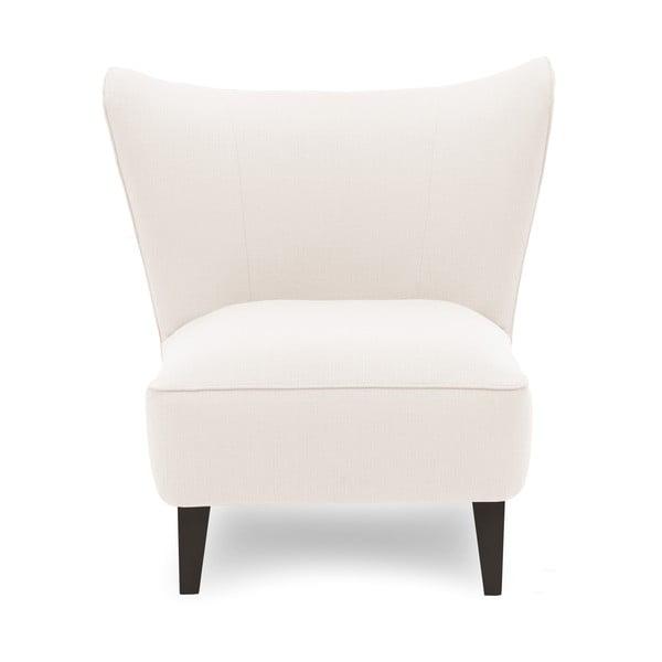 Kremowy fotel z ciemnymi nogami Vivonita Sandy