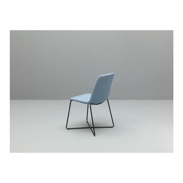Zestaw 4 niebieskich krzeseł Design Twist Ibiza